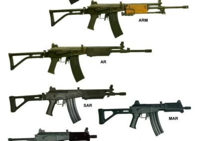 nice picture of all Galil variants
